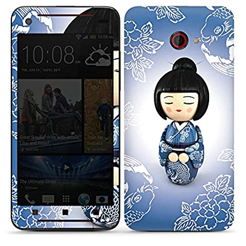 HTC Butterfly S Autocollant Protection Film Design Sticker Skin Koi Kokeshi Poupée Asie