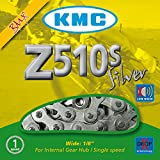 KMC Chain Z510S Cadena Ancha, Unisex Adulto, Gris, 112 eslabones
