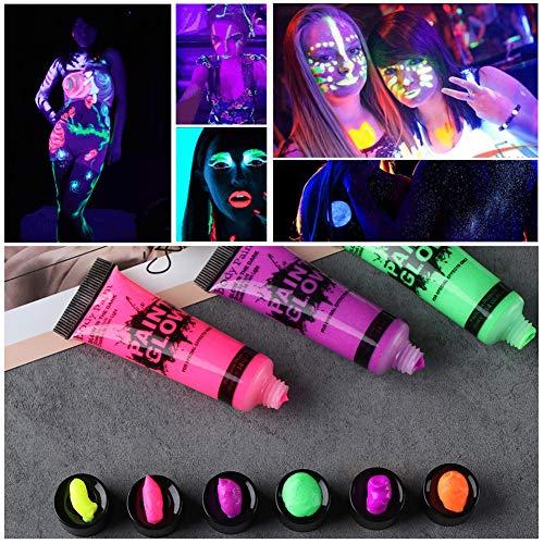 Kalaokei 10ml Festival Makeup Fluorescent Glow Club Pub Party UV Neon Face Body Paint - Green