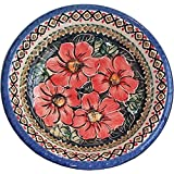 Boleslawiec Stoneware - Polish Pottery Soup or Pasta Plate - Eva's Collection Red Garden by Boleslawiec
