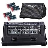 Roland Cube Street Ex alimentado por batería 50W 2x 8'Guitar Combo con 8Universal Electronics gratuita pilas AA