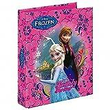Frozen / Die Eiskönigin - Ordner / Ringbuch - DIN A4 - mit 4 Ringen - PREMIUM-QUALITÄT - Motiv: Family Forever - Anna + Elsa - Für die Schule oder Zuhause - Disney