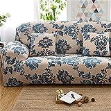 Là Vestmon Sofa Überwürfe sofaschoner Rutschfest Spandex Stretch Big Elastic Whole Cover with Simple Print Pattern Western Style Sofabezug 4sitzer