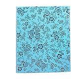 VORCOOL Einsteckalbum Fotoalbum 400 Taschen für 5 Zoll Fotopapier Polaroid Instant (Blau)