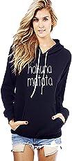 Melcom Women's Cotton Hoodie Sweatshirt Without Zip-Hakuna Matata