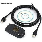 Caroline Philipson VCDS HEX-V2 V2 20.4/V2 18.9 KAN USB-interface Auto Fout Diagnose Draadkabel met CD-software (Duits/Engels)