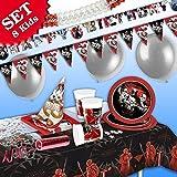 STAR WARS Geburtstag-Deko-Set, 50-teilig zum Kindergeburtstag Junge und STAR WARS-Motto-Party für 8 Fans von Darth Vader