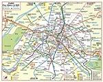 Plan de ville : M�tro Rer (plan plast...
