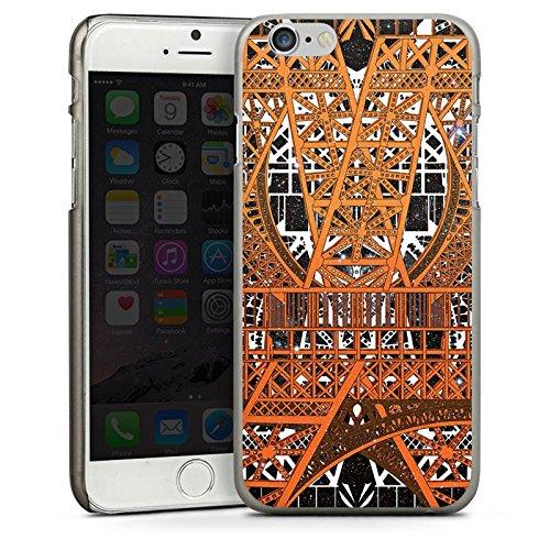 Apple iPhone 5 Housse étui coque protection Paris Tour Eiffel Motif CasDur anthracite clair