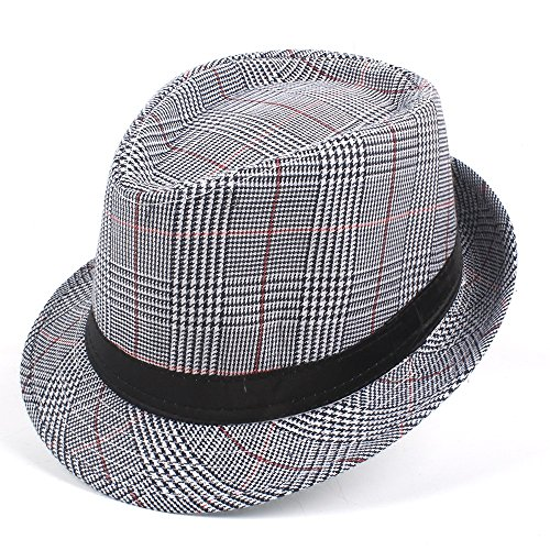 fd31afda5b8c4 Fashion Men Cotton Plaid Wide Fedora Hat For Dad Gentleman for sale  Delivered anywhere in UK