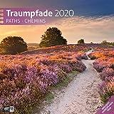 Traumpfade 2020, Wandkalender / Broschürenkalender im Hochformat (aufgeklappt 30x60 cm) - Geschenk-Kalender mit Monatskalendarium zum Eintragen