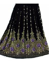 Nueva falda larga gitana india del cequi del Hippie del indio de las señoras hermosas del diseño | Faldas de la danza del vientre | Mundo de los bailarines