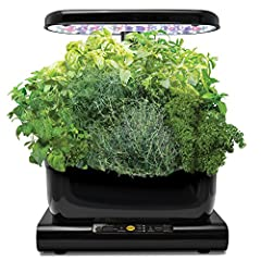 Idea Regalo - AeroGarden Miracle-Gro Harvest con Kit di Semi per Erbe Aromatiche, Nero, 24x22x38 cm