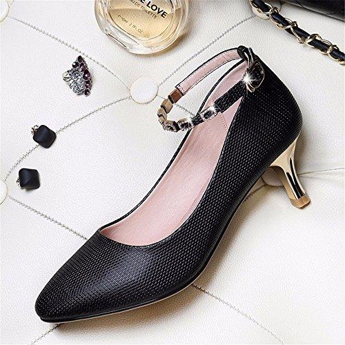 HXVU56546 Autunno Con Il Nuovo Sottile Con Tacchi Alti Appuntiti Di Moda Scarpe Scarpe Da Donna black
