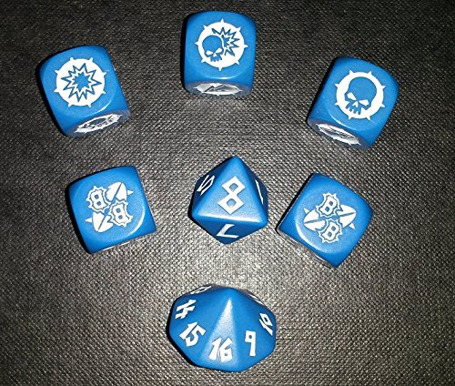 Games Workshop Blood Bowl Block Dice Set Blue