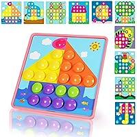 NextX Puzzle 3D con botones a forma de Champiñón Sombrero – juguete educativo de primera infancia