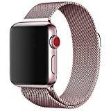 #10: ProElite 42 mm Stainless Steel Milanese Loop Strap with Magnetic Lock Buckle Wrist Band for Apple Watch - Rose Gold [*Watch NOT Included*]