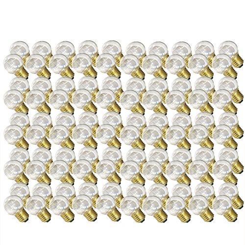 100 x LED Tropfen 0,7W E27 KLAR Plastik warmweiß 2700K für außen Kugel Birne