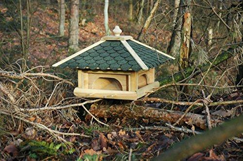 Luxus-Vogelhaus 98700e Großes XXL Vogelhaus aus Holz (Kiefer) für Garten, Balkon, mit 4 herausziehbaren Futterschubladen – XL Vogelhäuschen Vogelfutterhaus - 6
