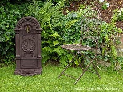 Standbrunnen 83cm Waschbecken Alu Brunnen Waschplatz Wandbrunnen antik Stil von aubaho bei Du und dein Garten