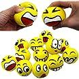 Mimieyes, giocattoli antistress, palline con emoji, per esercizio alle mani e alleviare lo stress (12 pezzi)