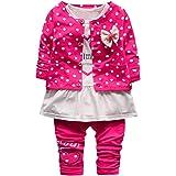Panda Baby M/ädchen Hausanzug Flanell Langarmshirt und Hose Kinder Gem/ütlich Pullover Tops Baby Jungen Schlafanz/üge 2 Teilig Morgenmantel/Winter Pyjama 1-3 Jahre