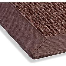 hometrend tessuto in fibra naturale di sisal tappeto confine passatoia piatta marrone moka diverse misure
