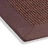 Sisal Teppich Bordürenteppich Naturfaser Läufer Flachgewebe braun mocca
