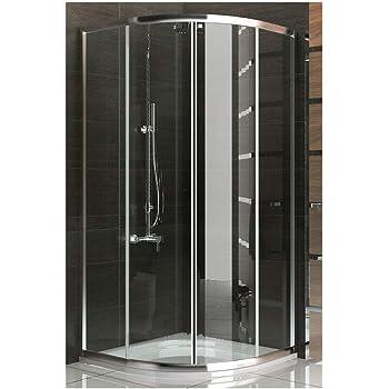 Rund Duschkabine Duschabtrennung Viertelkreis Dusche Schiebetur
