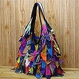 6cbc8f69ed Otomoll The nuovo Designer artigianale di borsette in cuoio cuoio cucitura  borsa alla moda,Colore