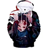 MULIZHE Devil's Blade 3D sweatshirt met lange mouwen, ronde hals, casual jas, voor dames en heren