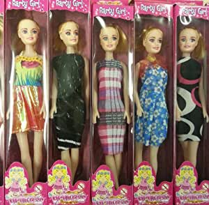 Princess Party Girl Doll - Blonde with assorted dresses - one supplied