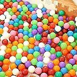 HanSemay Variopinta del divertimento Schiacci libero Proof palle plastica morbida aria-Filled Ocean sfera Pit palle per il bambino scherza Tenda da bagno giocattoli palla (50pcs) immagine