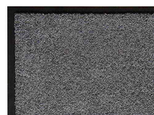 andiamo Schmutzfangmatte Fußabtreter Türmatte Fußmatte Sauberlaufmatte Schmutzabstreifer Türvorleger – Eingangsbereich In/Outdoor – rutschhemmend waschbar grau Polypropylen– 60x90 cm – 5 mm Höhe - 3