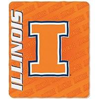 Offiziell lizenzierte NCAA Fleece Überwurf Decke–Illinois Fighting Illini