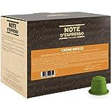 Note D'Espresso Crème Brulée, Bevanda in capsule, 6 g x 100 Esclusivamente Compatibili con le macchine per caffè a capsule Ne
