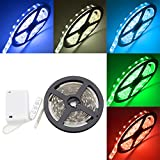 WOWLED 2M Waterproof 5050 RGB Multicolor LED Flexible Light Strip Battery Powered for Christmas House Decor TV PC Back Mood Light Wardrobe Cabinet Closet Light