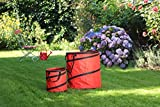 1PLUS Pop Up Sack, Spielzeugsack, Gartensack, Wäschesack 85 und 15 Liter, in verschiedenen Farben (Rot)