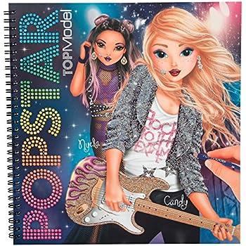 Exp dition top model magic livre de coloriage d 39 amusement avec des autocollants 7941 new - Top model livre de dessin ...