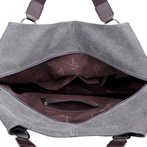 Segeltuch-Damen-Art- und Weisereise-beweglicher Schulter-Kurier Grey
