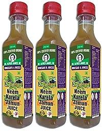 Dr. Alfred James,UK Neem Karela Jamun Cider Vinager Set of -3