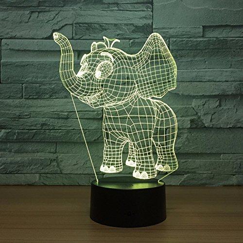 wangZJ Lámpara de ilusión 3d / 7 colores cambiantes Luz de noche...