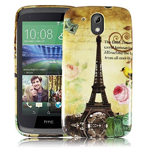 HTC Desire 526G PARIS LA TOUR Silikon Silikon Schutz-Hülle weiche Tasche Cover Case Bumper Etui Flip smartphone handy backcover Schutzhülle Handyhülle thematys®