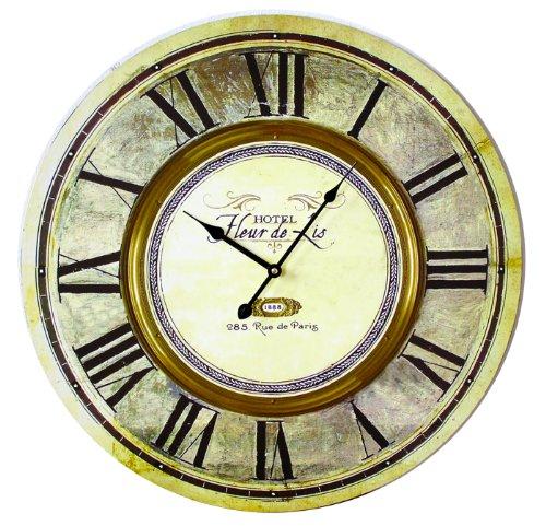 Wanduhr Küchenuhr Hoteluhr Wohnzimmeruhr Nostalgie Antik Wand Uhr Dekoration 60cm Groß (ET544A-010R) (Antike Uhr Wand)