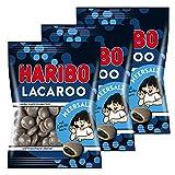 Haribo LACA Roo Sel de mer, 3pièces, avec noyau Réglisse, caoutchouc-Babyours-Vin en caoutchouc, Fruit caoutchouc en sachet, 375g