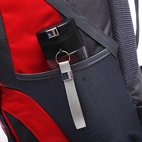 HWJF 60L Sacchetto di spalla esterno della borsa di scalata impermeabile della borsa di spalla esterna di grande capacità , black Dark Blue