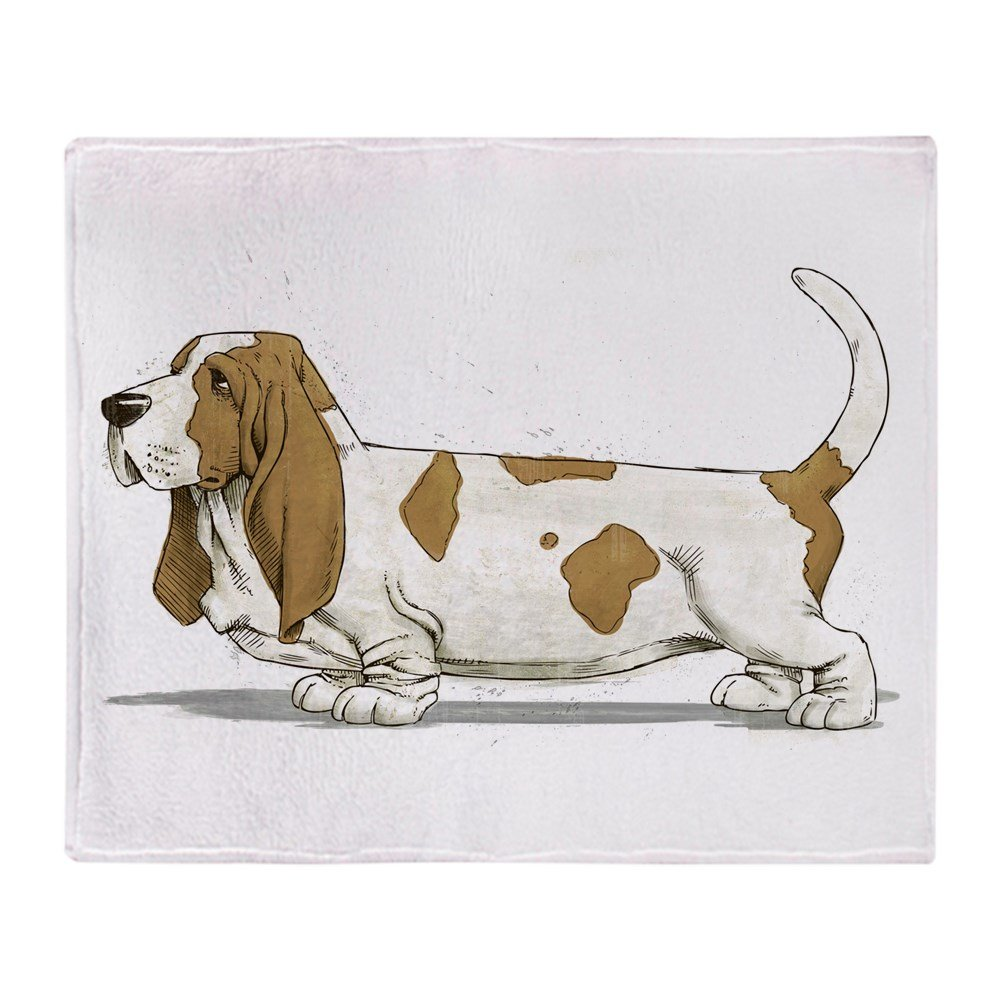 CafePress Basset Hound Throw Blanket Soft Fleece Throw Blanket, 50″x60″ Stadium Blanket