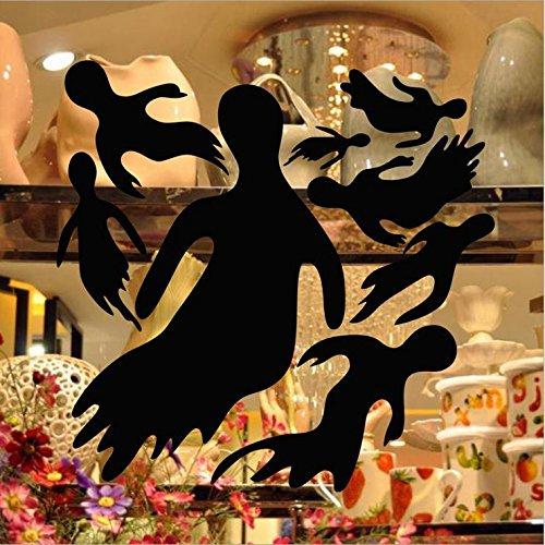 EgBert Kst-23 Halloween PVC Kobold Gruppe Wandaufkleber Fenster Dekoration Festival Wandtattoos Poster