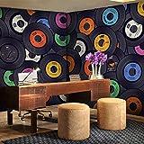 Leegt 3D Tapete Wallpaper Mural Customlectronic Technologie Nostalgische Kulisse 3D Wallpaper Murals Bar Ktv-Box Eingerichtet 3D Wallpaper 3D Puzzle Cd 300cmX200cm