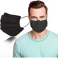 SYMTEX 50 Stück Schwarze Medizinisch Chirurgische Type IIR Norm EN 14683 zertifizierte Mundschutzmasken OP Masken 3…